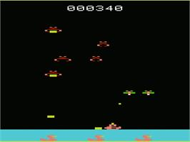 In game image of Deadly Duck on the Commodore VIC-20.