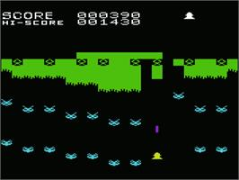 In game image of Demon Attack on the Commodore VIC-20.