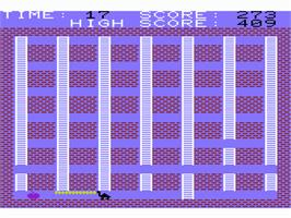 In game image of Dragon Fire on the Commodore VIC-20.