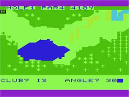 In game image of Gorf on the Commodore VIC-20.