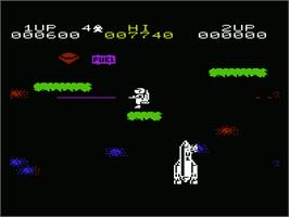 In game image of Jet-Pac on the Commodore VIC-20.
