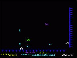 In game image of Laser Zone on the Commodore VIC-20.