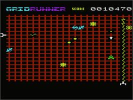 In game image of Matrix: Gridrunner 2 on the Commodore VIC-20.