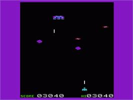 In game image of Neutron Zapper on the Commodore VIC-20.