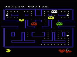 In game image of Pac-Man on the Commodore VIC-20.