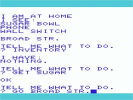 In game image of Pirate Adventure on the Commodore VIC-20.