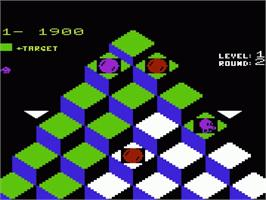 In game image of Q*bert on the Commodore VIC-20.