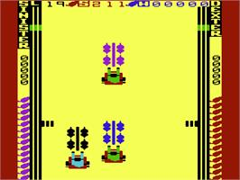 In game image of Radar Rat Race on the Commodore VIC-20.