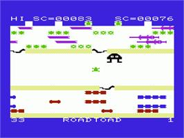 In game image of Robin Hood on the Commodore VIC-20.