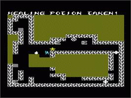 In game image of Sword of Fargoal on the Commodore VIC-20.