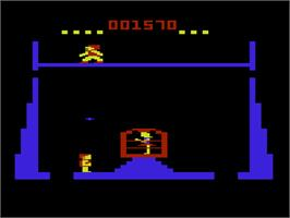In game image of Tomarc the Barbarian on the Commodore VIC-20.
