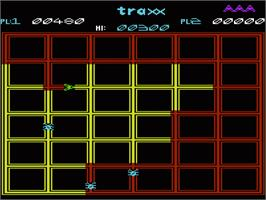 In game image of Traxx on the Commodore VIC-20.