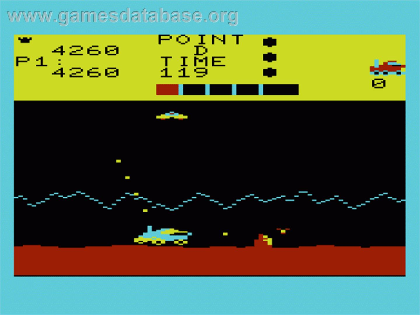 Moon Patrol - Commodore VIC-20 - Artwork - In Game