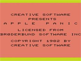 Title screen of Apple Panic on the Commodore VIC-20.