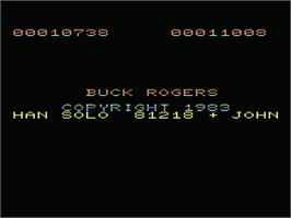 Title screen of Buck Rogers: Planet of Zoom on the Commodore VIC-20.