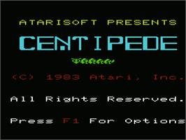 Title screen of Centipede on the Commodore VIC-20.