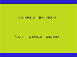 Title screen of Congo Bongo on the Commodore VIC-20.