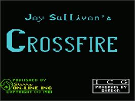 Title screen of Crossfire on the Commodore VIC-20.