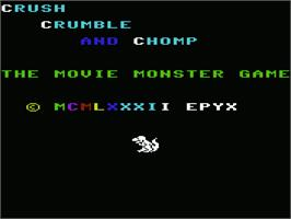 Title screen of Crush, Crumble and Chomp on the Commodore VIC-20.
