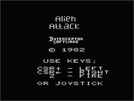 Title screen of Demon Attack on the Commodore VIC-20.
