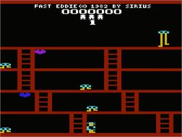 Title screen of Fast Eddie on the Commodore VIC-20.