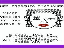 Title screen of Football Manager on the Commodore VIC-20.