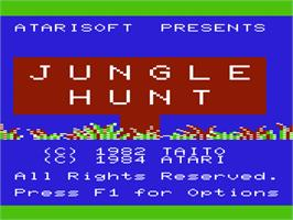 Title screen of Jungle Hunt on the Commodore VIC-20.