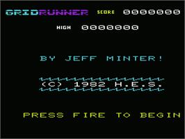 Title screen of Matrix: Gridrunner 2 on the Commodore VIC-20.