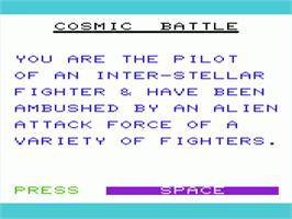 Title screen of Panic Button on the Commodore VIC-20.