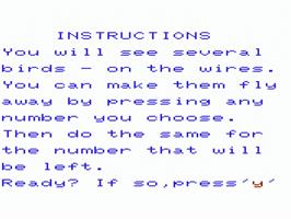 Title screen of Pipes on the Commodore VIC-20.