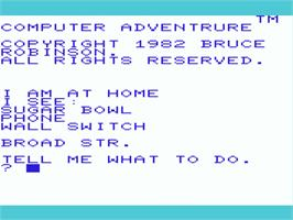 Title screen of Pirate Adventure on the Commodore VIC-20.