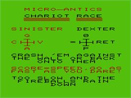 Title screen of Radar Rat Race on the Commodore VIC-20.