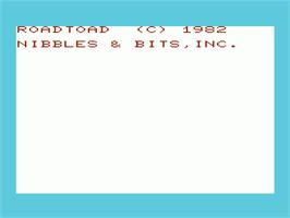 Title screen of Robin Hood on the Commodore VIC-20.