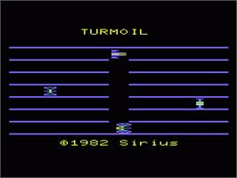 Title screen of Turmoil on the Commodore VIC-20.