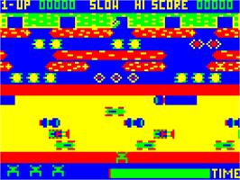 In game image of Frogger on the Dragon 32-64.