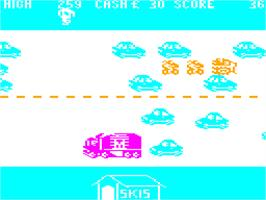 In game image of Horace Goes Skiing on the Dragon 32-64.
