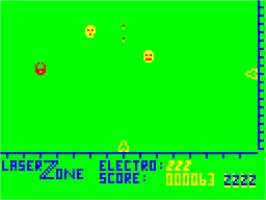 In game image of Laser Zone on the Dragon 32-64.