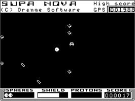 In game image of Supa Nova on the Dragon 32-64.