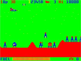In game image of Tube Way Army on the Dragon 32-64.