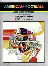 Box cover for American Football on the Emerson Arcadia 2001.