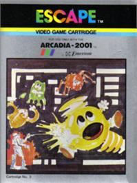 Box cover for Escape on the Emerson Arcadia 2001.