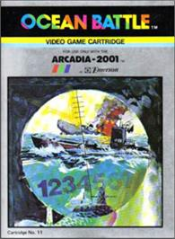 Box cover for Ocean Battle on the Emerson Arcadia 2001.