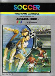 Box cover for Soccer on the Emerson Arcadia 2001.