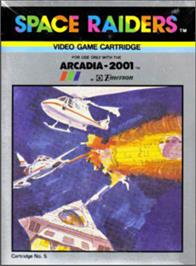 Box cover for Space Raiders on the Emerson Arcadia 2001.