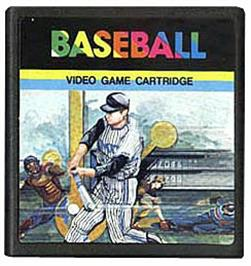 Cartridge artwork for Baseball on the Emerson Arcadia 2001.