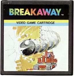 Cartridge artwork for Breakaway on the Emerson Arcadia 2001.