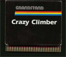 Cartridge artwork for Crazy Climber on the Emerson Arcadia 2001.