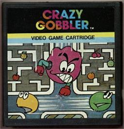 Cartridge artwork for Crazy Gobbler on the Emerson Arcadia 2001.