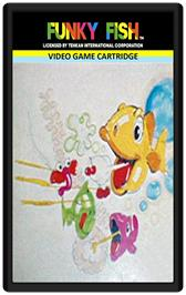 Cartridge artwork for Funky Fish on the Emerson Arcadia 2001.
