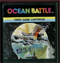 Cartridge artwork for Ocean Battle on the Emerson Arcadia 2001.